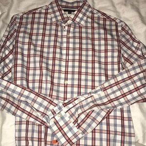 Men's medium slim fit banana republic dress shirt